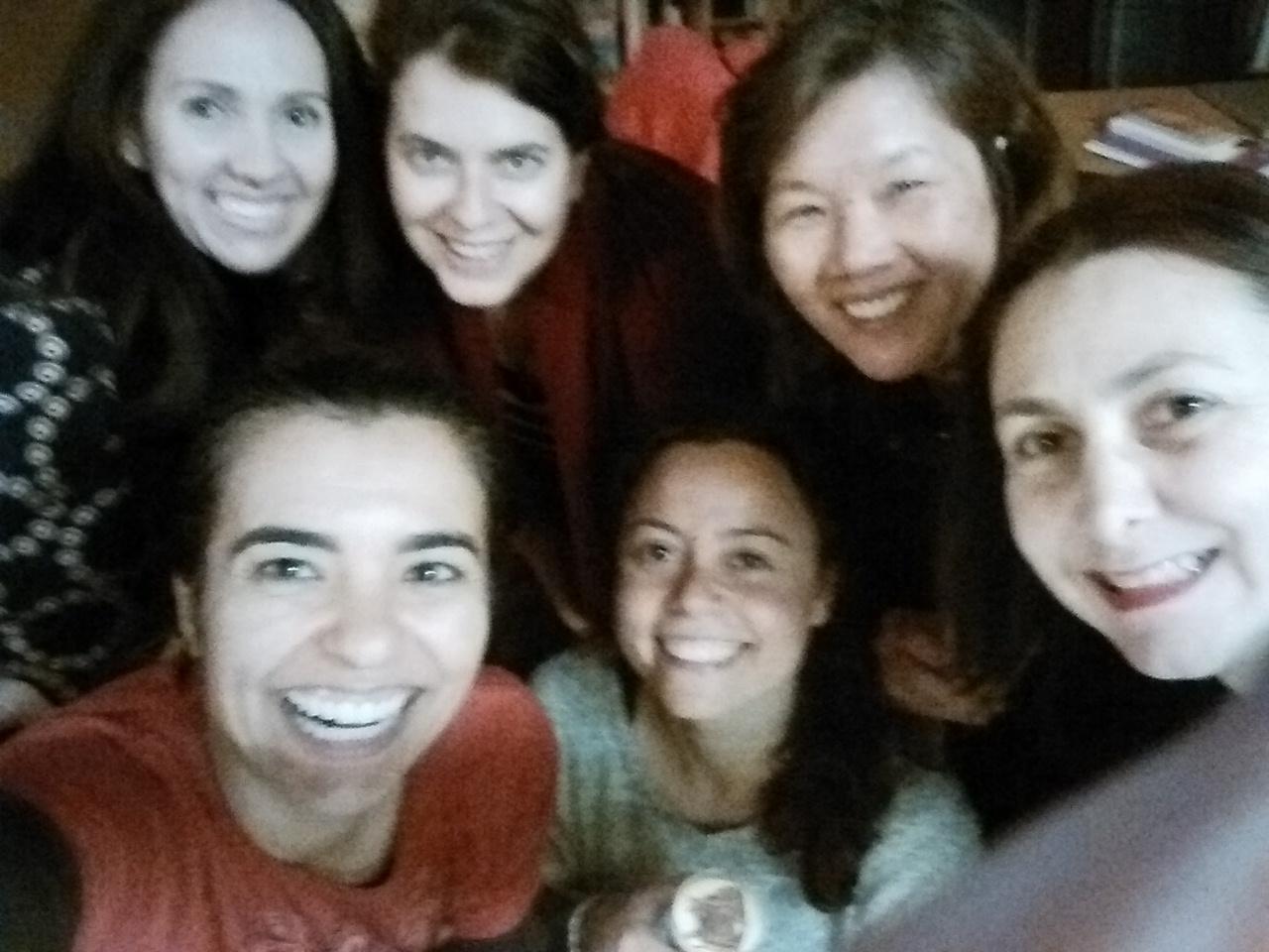 Cleia, Ana Luiza Correia, Ming, Keyla, Renata e Simoni; precious time ;)